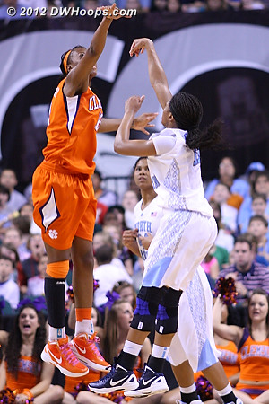 Clemson's defense finally found Rountree  - UNC Players: #11 Brittany Rountree - CLEM Tags: #12 Quinyotta Pettaway