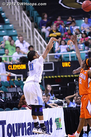 Another swish for Rountree  - UNC Players: #11 Brittany Rountree