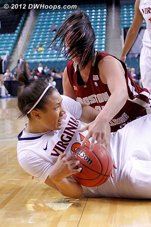 DWHoops Photo  - UVA Players: #21 Jazmin Pitts - BC Tags: #45 Katie Zenevitch