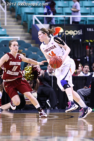 DWHoops Photo  - UVA Players: #14 Lexie Gerson - BC Tags: #10 Kerri Shields