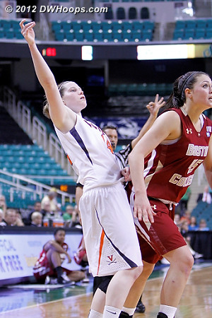 DWHoops Photo  - UVA Players: #14 Lexie Gerson - BC Tags: #45 Katie Zenevitch