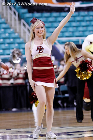 DWHoops Photo  - BC Players:  Boston College Cheerleaders
