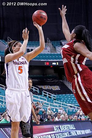 DWHoops Photo  - UVA Players: #5 Erinn Thompson - BC Tags: #22 Joy Caracciolo