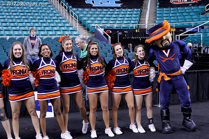 Virginia gets Maryland in Friday's fourth quarterfinal  - UVA Players: Mascot Virginia Cavalier,  Virginia Cheerleaders