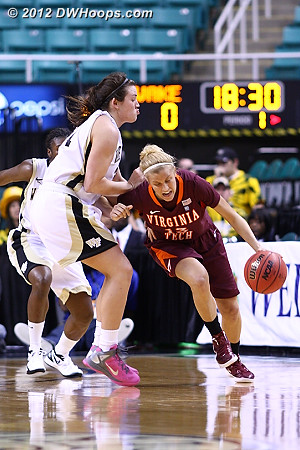 DWHoops Photo  - WAKE Players: #31 Lindsy Wright - VT Tags: #13 Alyssa Fenyn