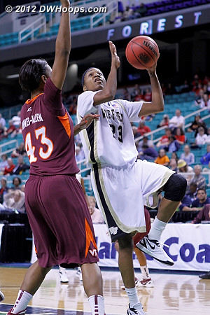 DWHoops Photo  - WAKE Players: #23 Secily Ray - VT Tags: #43 LaTorri Hines-Allen