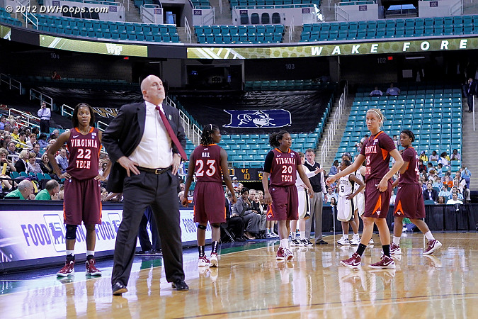 VT got a technical foul for six players on the court  - VT Players: Head Coach Dennis Wolff
