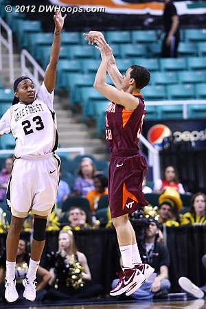 Tellier's shooting was a bright spot  - WAKE Players: #23 Secily Ray - VT Tags: #31 Monet Tellier