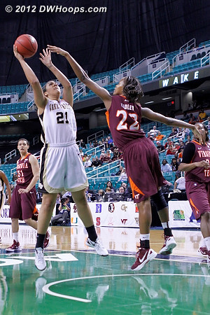 DWHoops Photo  - WAKE Players: #21 Sandra Garcia - VT Tags: #22 Porschia Hadley