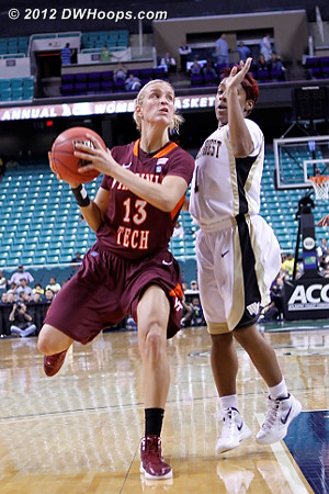 DWHoops Photo  - WAKE Players: #1 Brooke Thomas - VT Tags: #13 Alyssa Fenyn