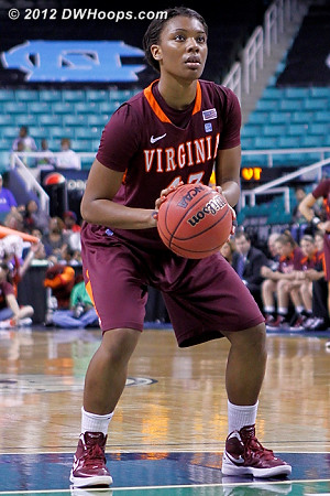 DWHoops Photo  - VT Players: #43 LaTorri Hines-Allen