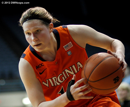 Lexie snags a loose ball  - UVA Players: #14 Lexie Gerson