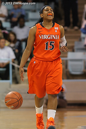 Moorer calls out the Virginia play  - UVA Players: #15 Ariana Moorer