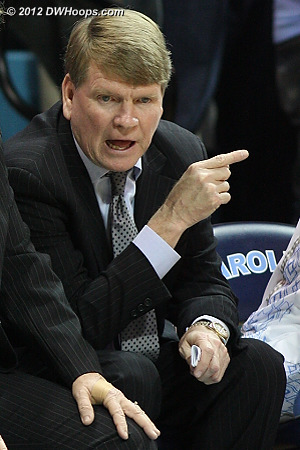 The always intense Andrew Calder on the Carolina bench  - UNC Players: Assistant Coach Andrew Calder