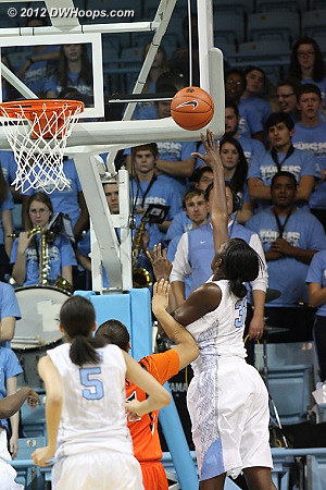 Rolle puts Carolina up 11  - UNC Players: #32 Waltiea Rolle