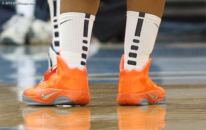 Ariana Moorer's unique shoes  - UVA Players: #15 Ariana Moorer
