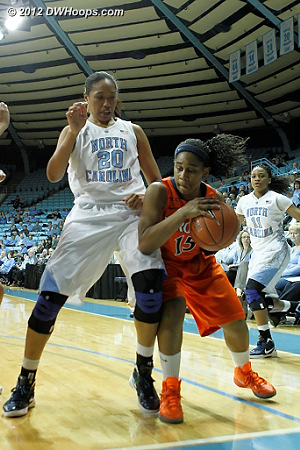 DWHoops Photo  - UNC Players: #20 Chay Shegog - UVA Tags: #15 Ariana Moorer