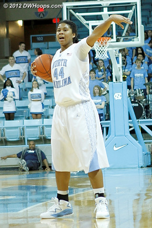 Setting the Carolina offense  - UNC Players: #44 Tierra Ruffin-Pratt
