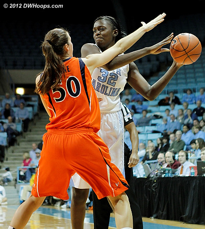 DWHoops Photo  - UNC Players: #32 Waltiea Rolle - UVA Tags: #50 Chelsea Shine