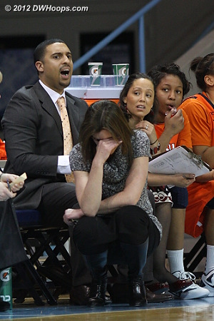 Another Virginia turnover  - UVA Players: Head Coach Joanne Boyle, Assistant Coach Kim McNeill, Assistant Coach Cory McNeill