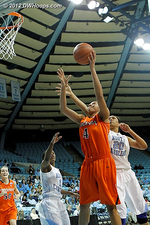 In 32 minutes Egwu only took two shots, making this one  - UNC Players: #20 Chay Shegog - UVA Tags: #4 Simone Egwu