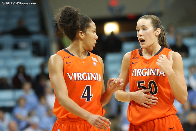 Virginia post conference  - UVA Players: #4 Simone Egwu, #50 Chelsea Shine