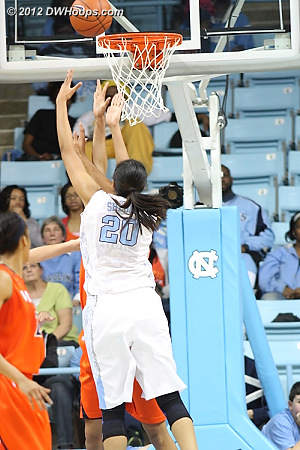 Shegog hits the second of back-to-back buckets, Heels lead by six  - UNC Players: #20 Chay Shegog