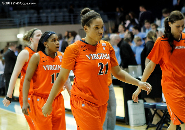 Virginia swept by the Heels in two very close games  - UVA Players: #21 Jazmin Pitts