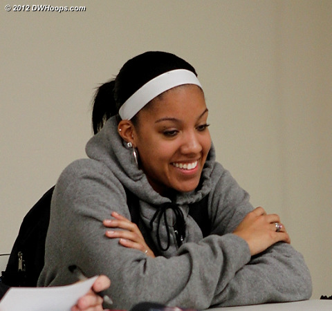 Wood in the media room  - UNC Players: #4 Candace Wood