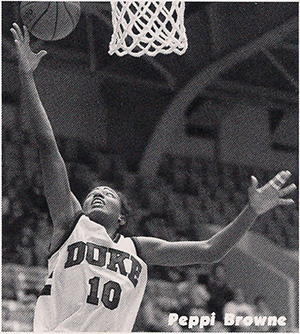 Peppi Browne (photo courtesy Duke SID)