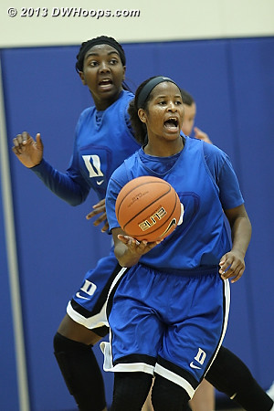 DWHoops Photo  - Duke Tags: #1 Elizabeth Williams , #14 Ka'lia Johnson