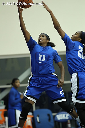 DWHoops Photo  - Duke Tags: #22 Oderah Chidom, #14 Ka'lia Johnson