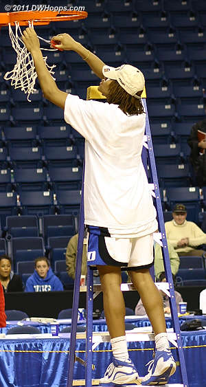 Cutting down the nets in Bridgeport after an overtime win over UConn sent Duke to the 2006 Final Four