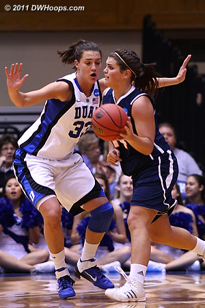 DWHoops Photo  - Duke Tags: #33 Haley Peters 14 Taylor Hall