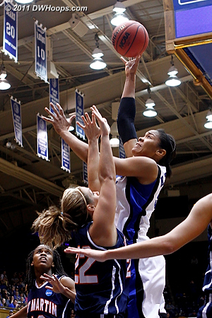 Krystal makes it 19-10  - Duke Tags: #34 Krystal Thomas 22 Alecia Weatherly