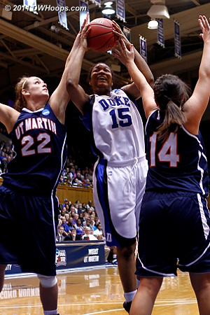 Fouled...  - Duke Tags: #15 Richa Jackson 22 Alecia Weatherly