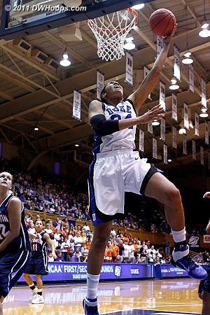 Krystal Thomas layup sequence  - Duke Tags: #34 Krystal Thomas