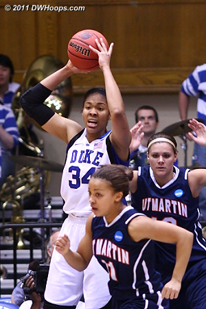 Skyhawks had no match for Duke's size  - Duke Tags: #34 Krystal Thomas
