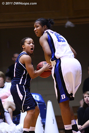 DWHoops Photo  - Duke Tags: #15 Richa Jackson 11 Heather Butler