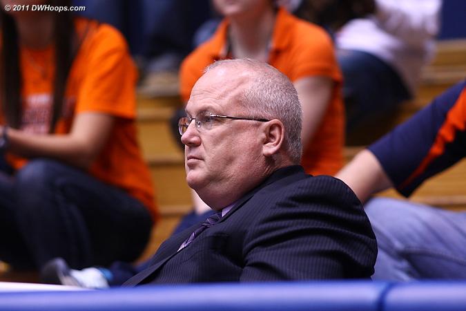 Marist head coach Brian Giorgis scouts Duke