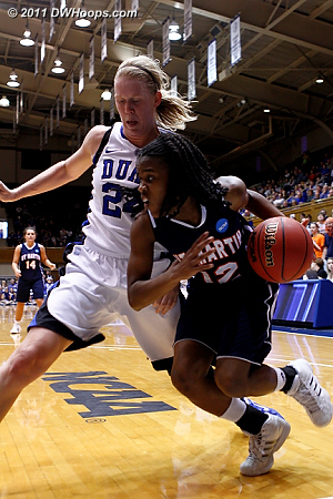 DWHoops Photo  - Duke Tags: #24 Kathleen Scheer 12 Jasmine Newsome