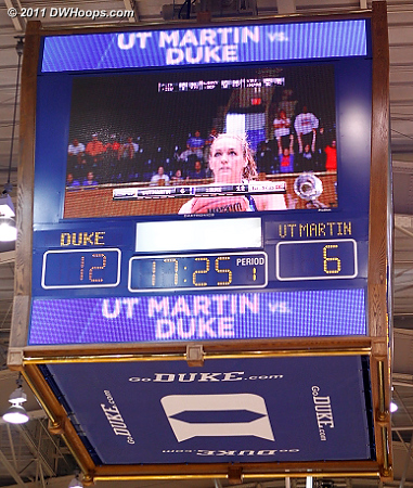 The NCAA look for the Duke scoreboard