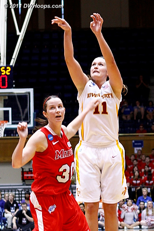Bolt scored 18 but it took 20 shots to get there.  11 Kelsey Bolte