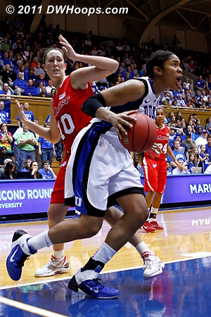 DWHoops Photo  - Duke Tags: #34 Krystal Thomas 10 Kate Oliver