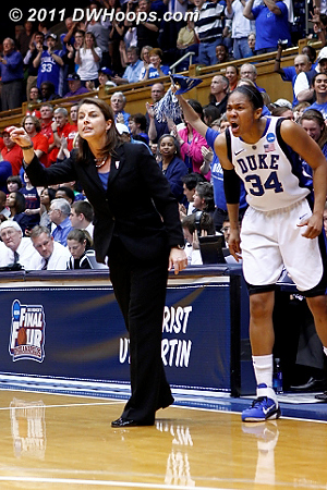 DWHoops Photo  - Duke Tags: #34 Krystal Thomas, Joanne P. McCallie