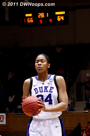 After a Marist trey Krystal went to the stripe  - Duke Tags: #34 Krystal Thomas