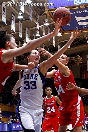 Battle for a rebound  - Duke Tags: #33 Haley Peters