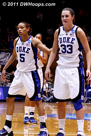 Haley made both free throws for the final insurmountable margin  - Duke Tags: #33 Haley Peters