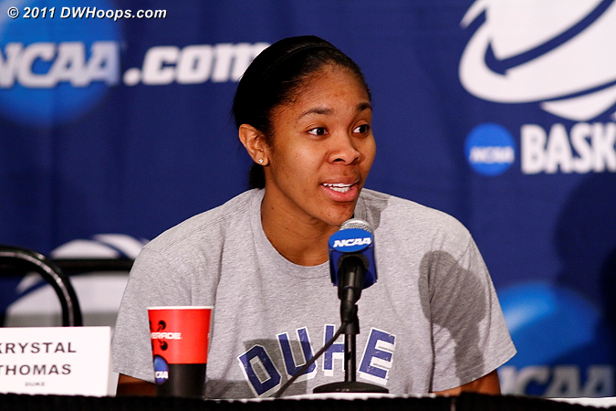 Postgame press conference  - Duke Tags: #34 Krystal Thomas