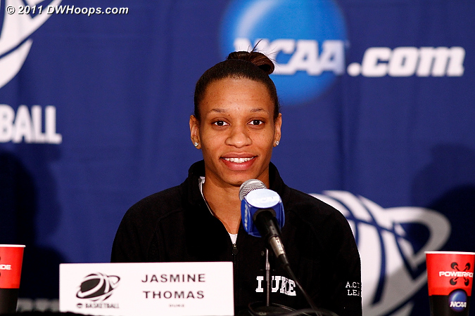 Postgame press conference  - Duke Tags: #5 Jasmine Thomas